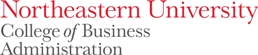 Northeastern University College of Business Administration logo